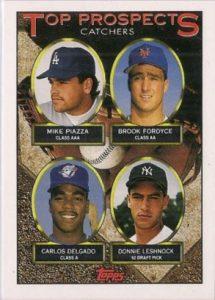 Mike Piazza Carlos Delgado rookie card 1993
