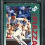 Mike Piazza rookie card 1992 Fleer Update