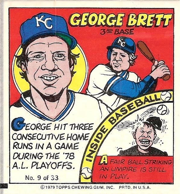 George Brett 1979 Topps Test Comics