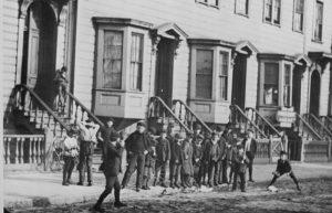 1900s kids playing baseball