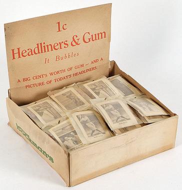 1929 Star Player Candy baseball box packs