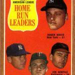 Topps 1962 AL Home Run Leaders