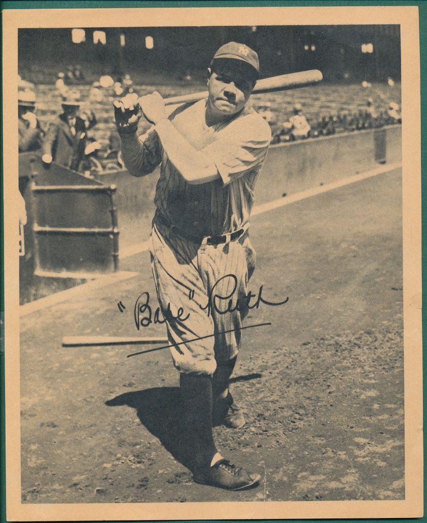 Babe Ruth 1934 Butterfinger