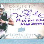 2009 NFL Exquisite Bio-Scripts Autograph Sanchez