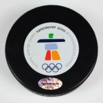 Overtime puck from USA-Canada gold medal Olympic hockey game