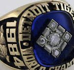 1984 Detroit Tigers World Series ring