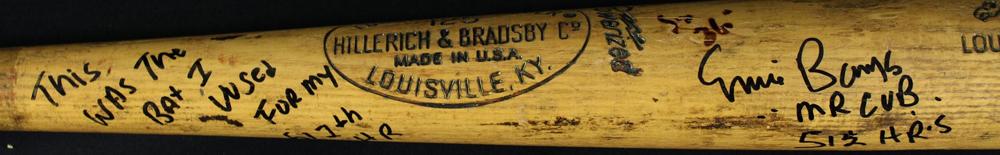 Ernie Banks home run 512 bat