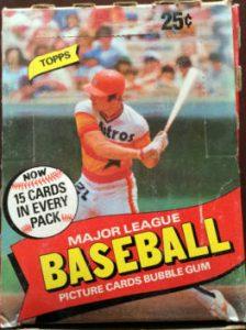 Topps box 1980 wax