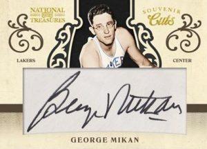 George Mikan cut signature