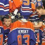 Edmonton Oilers game used jerseys