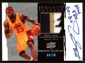 LeBron James autogfraphed card