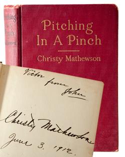 Christy Mathewson autographed book