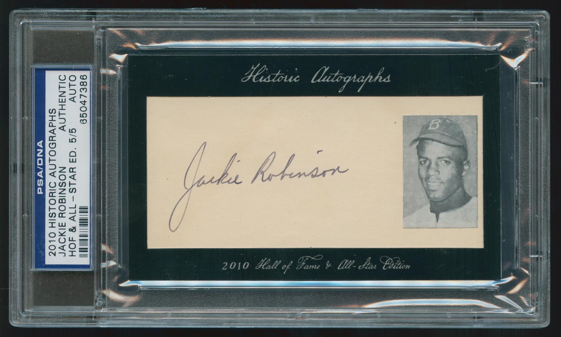 Jackie Robinson, 2010 Historic Autographs HOF