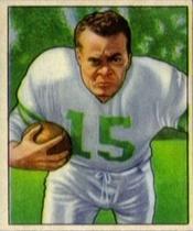 Steve Van Buren 1950 Bowman football card