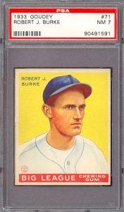 1933 Goudey Burke