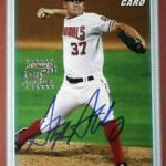 2010 Bowman Stephen Strasburg 'red' autographed card