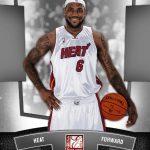 LeBron James Panini booth promotion card