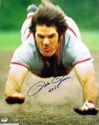 Pete Rose signed photo