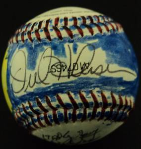 Orel Hershiser Subway deSigns signed baseball