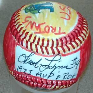 Fred Lynn Subway deSigns autographed baseball