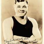 Babe Ruth signed photo to sister Mamie
