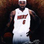 LeBron James Heat autograph