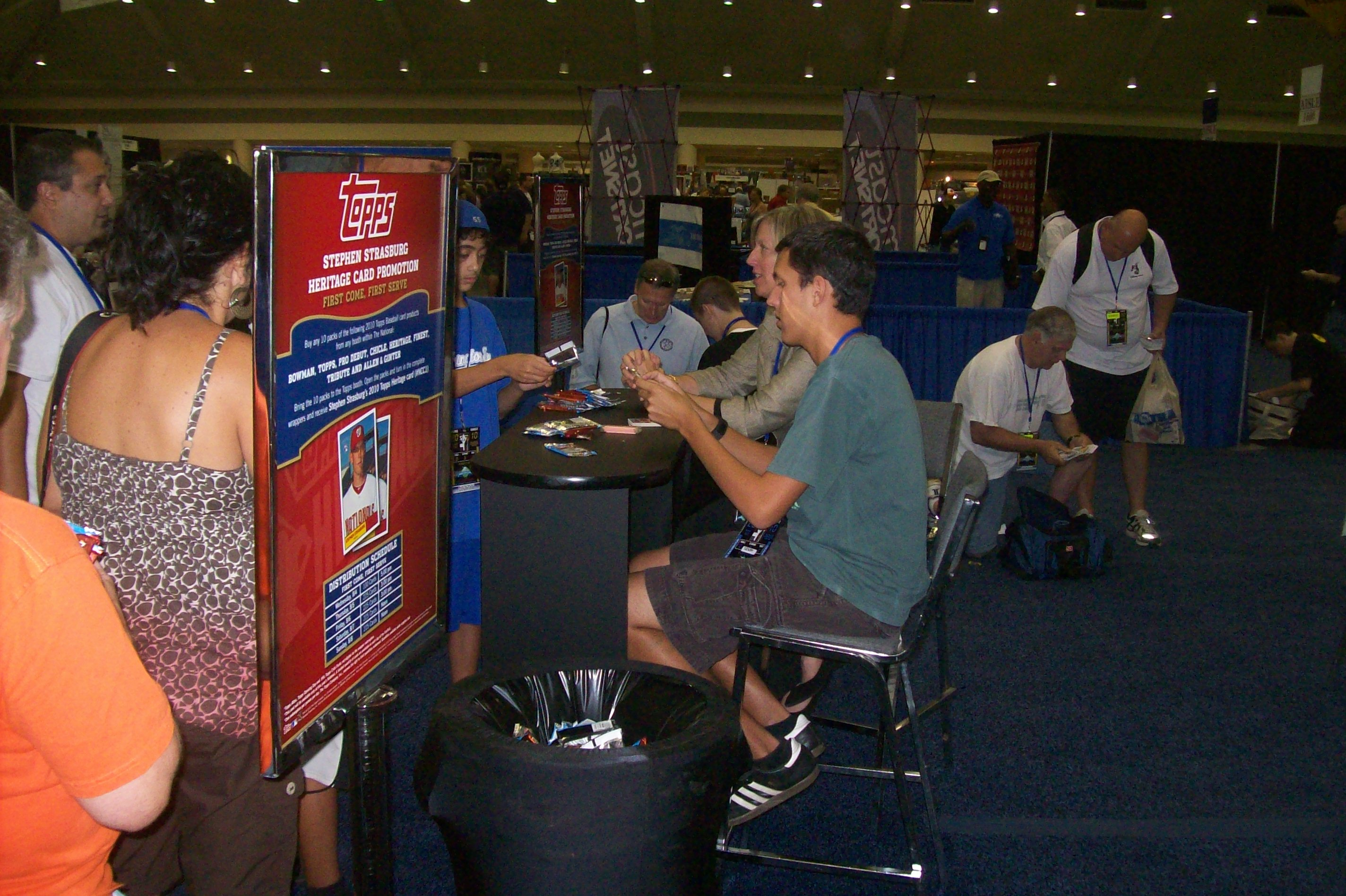 Topps booth