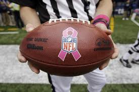 Pink NFL game ball
