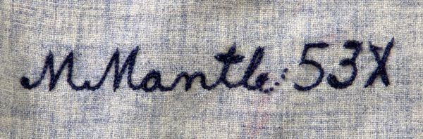 Mickey Mantle jersey stitching
