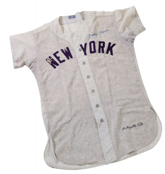 1953 Mickey Mantle game worn jersey