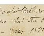 James Naismith note from original basketball rules