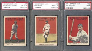 Cards from 1914 Cracker Jack set