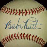 Babe Ruth Autographed Baseball PSA 9