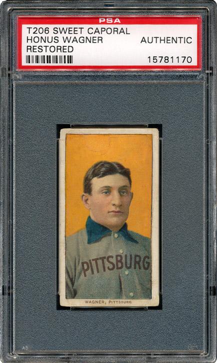 Honus Wagmer T206 Baseball Card