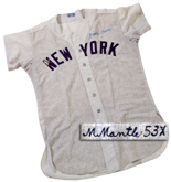 1953 Mickey Mantle road jersey
