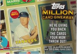 Topps million contest card