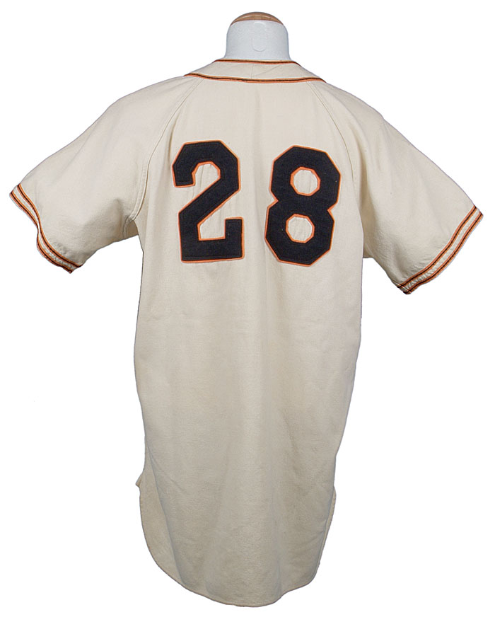 Willie Mays 1951 Minneapolis Millers jersey back