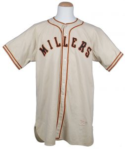 Willie Mays 1951 Minneapolis Millers jersey