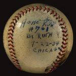 Babe Ruth 702nd home run ball