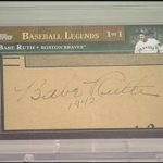 2010 Topps Updates Baseball Legends Cut Signature Babe Ruth