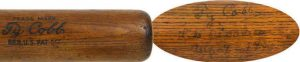 1925 Ty Cobb game used, autographed bat