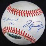 Michael Jordan-Muhammad Ali signed baseball