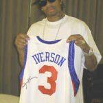 Allen Iverson signed jersey