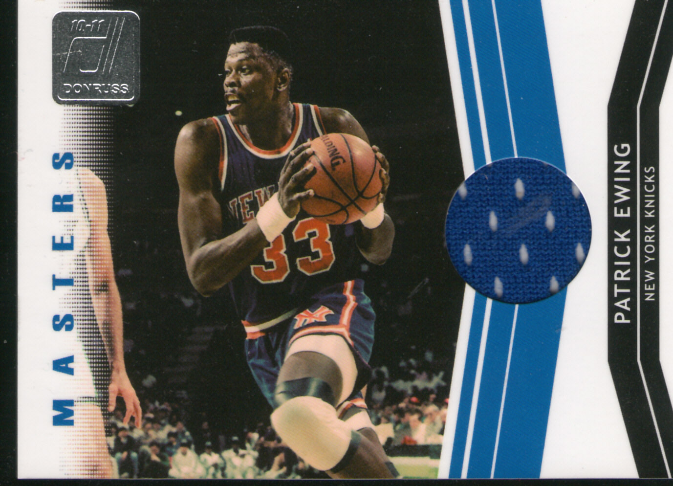 Patrick Ewing relic card 2010 Donruss