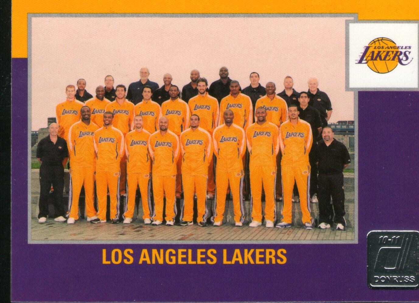 Lakers team card 2010 Donruss
