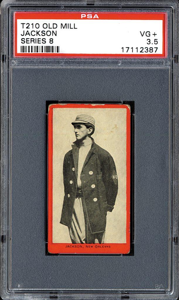 1910 Joe Jackson Old Mill Tobacco card