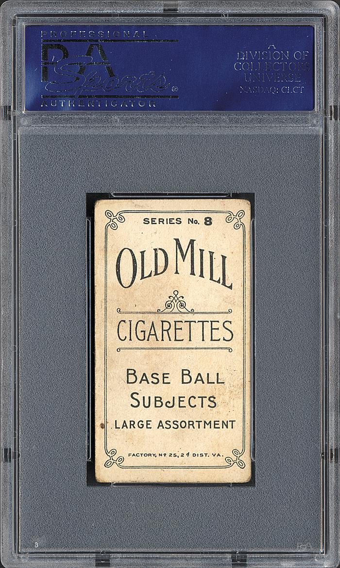 Old Mill Joe Jackson card back