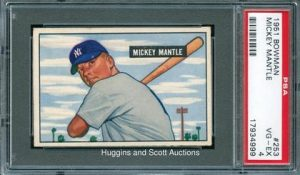 1951 Bowman Mickey Mantle Rookie Card PSA 4