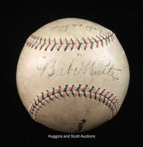 1927 Babe Ruth signed ball