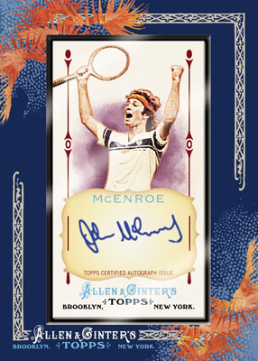 2011 Allen and Ginter McEnroe autograph